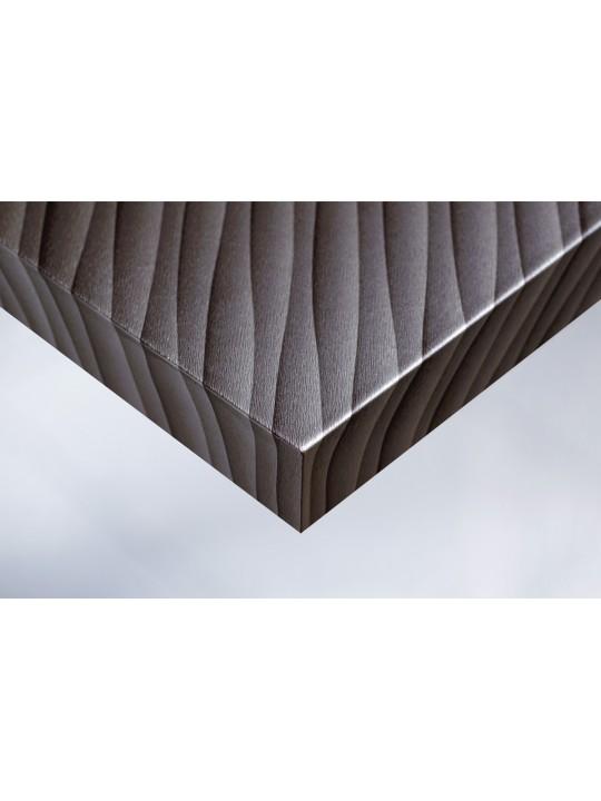 Интерьерная плёнка Cover U14 металлик (серые волны)