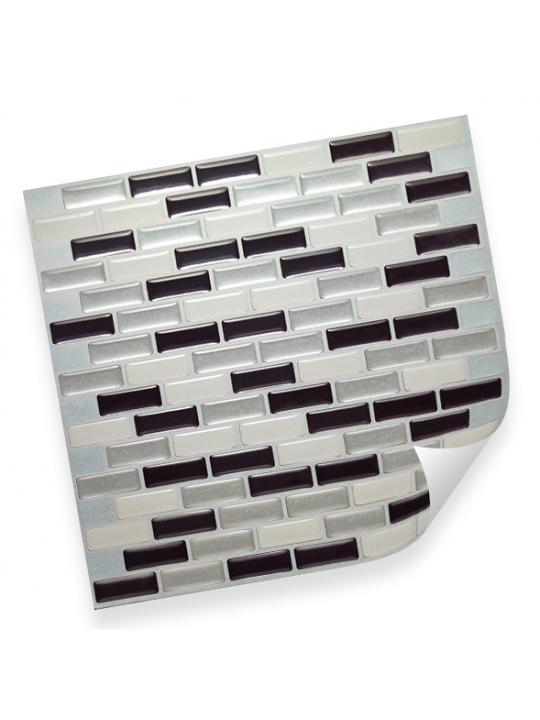 Интерьерная плёнка CST06 random anthracite & silver