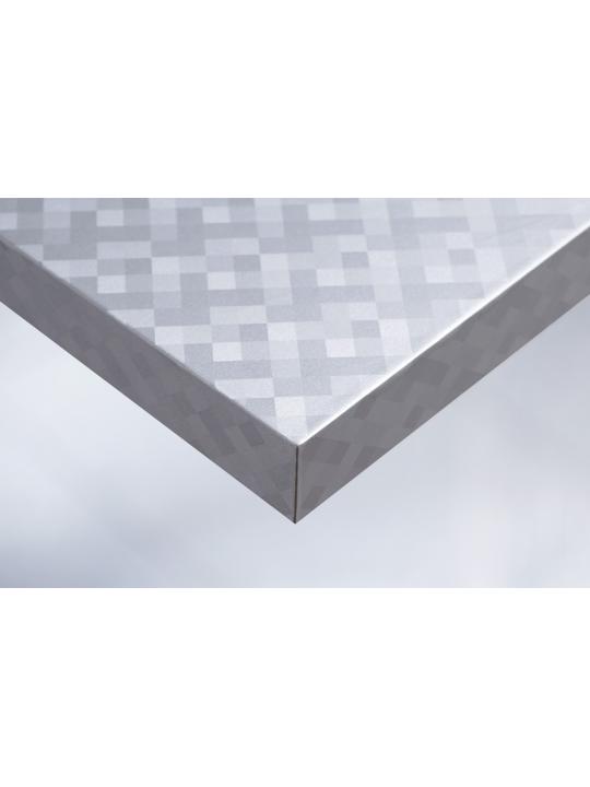Интерьерная плёнка Cover R4 металлик клетка (серебро)